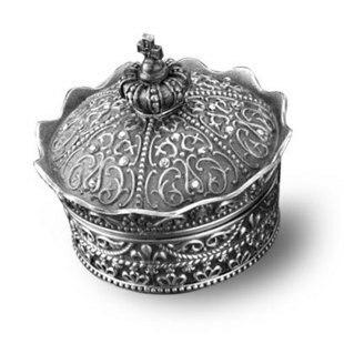 The Crown Jewel Treasure Box Metal Collectible Jewelry Box Treasure Gift Box Fairy Miniatures Metal Decorations
