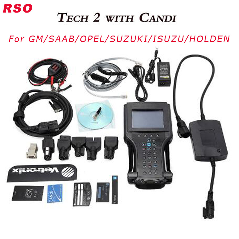 Best Quality Opel Tech2 for G-M Diagnostic Scanner For G-M/SAAB/OPEL/SUZUKI/ISUZU/Holden supported six software cards DHL free