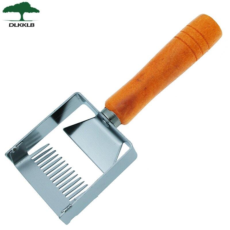 Apiculture décapsulage fourchette fer nid d'abeille miel grattoir manche en bois Apicultura équipement décapsulage fourchette outils apicoles