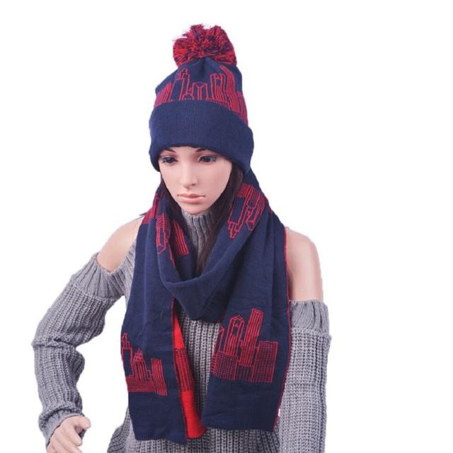 Nuevo 2016 que hace punto sombrero doble caliente MAO qiu sombrero de lana otoño invierno tejer sombrero de la bufanda de dos piezas de fábrica al por mayor las ventas de la gorrita tejida