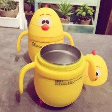 250 ML edelstahl Thermosbecher Karikatur-huhn Saugnapf Baby Wasserflasche Kreative Einhorn Becher Geschenk