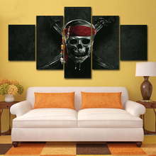 Wall Art Abstract HD Decorative Modular Pictures 5 PiecesSet Skull Framework Canvas Painting For Living Room Bedroom Prints