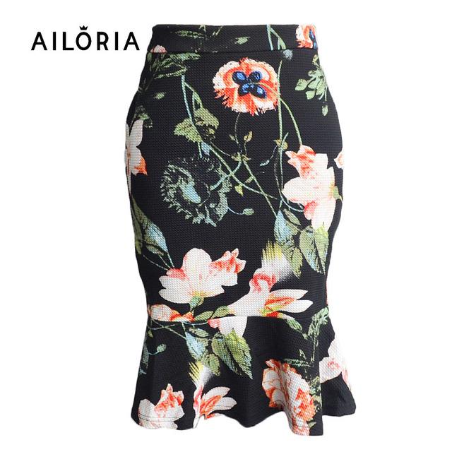Busniess Ailoria 2016 Saias Mulheres Sexy Vestir Para Trabalhar Escritório Senhora Cintura alta Sereia Bodycon Saias