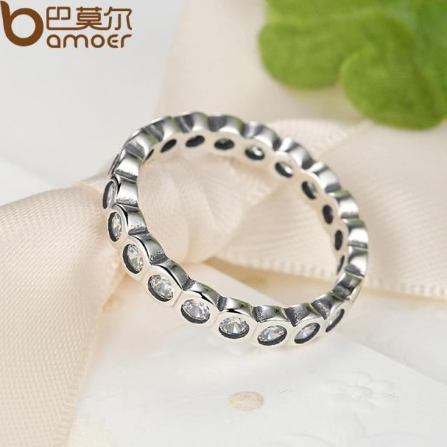 Sterling Silver Alluring Brilliant Stackable Ring