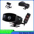 12V 100W 5 Sound Car Electronic Warning Horn Siren Motorcycle Alarm Police Firemen Ambulance Loudspeaker With MIC Horn Megaphone