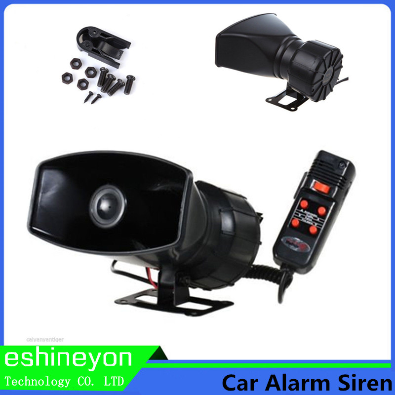 12V 100W 5 Sound Car font b Electronic b font Warning Horn Siren Motorcycle Alarm Police