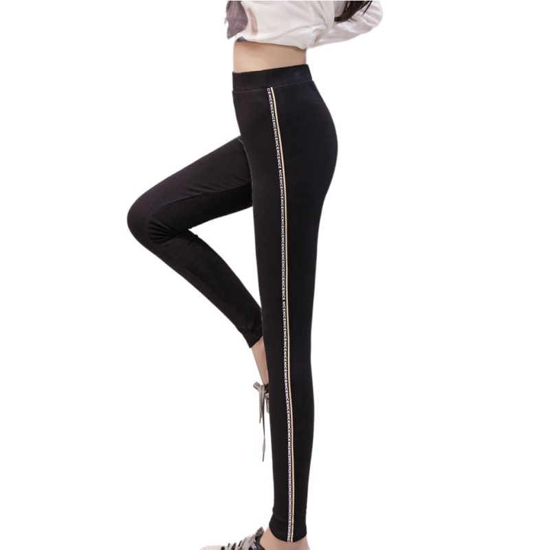 2018 Women Lady Activewear High Elastic Slim Black/Dark Gray Legging Autumn Pant High Waist Leggins Femael Plus Size 4XL