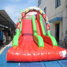 commercial inflatable bouncer trampoline with CE/UL blower inflatable slide playground
