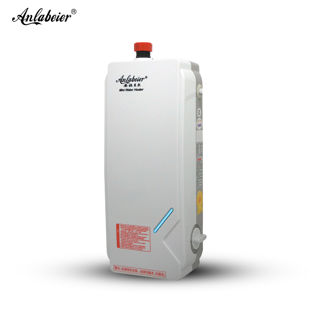 Anlabeier Bathroom Kitchen Use 5500w Instant Electric Tankless Water Heater For Shower