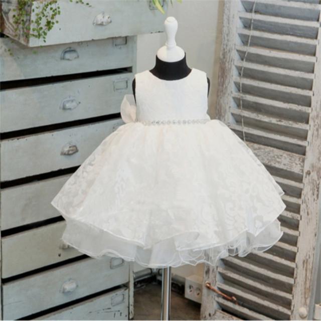 Baby girl dress elegante rendas vestidos de tutu para o bebê recém-nascido batizado casamento desgaste do partido da menina da criança vestidos de aniversário 1 ano