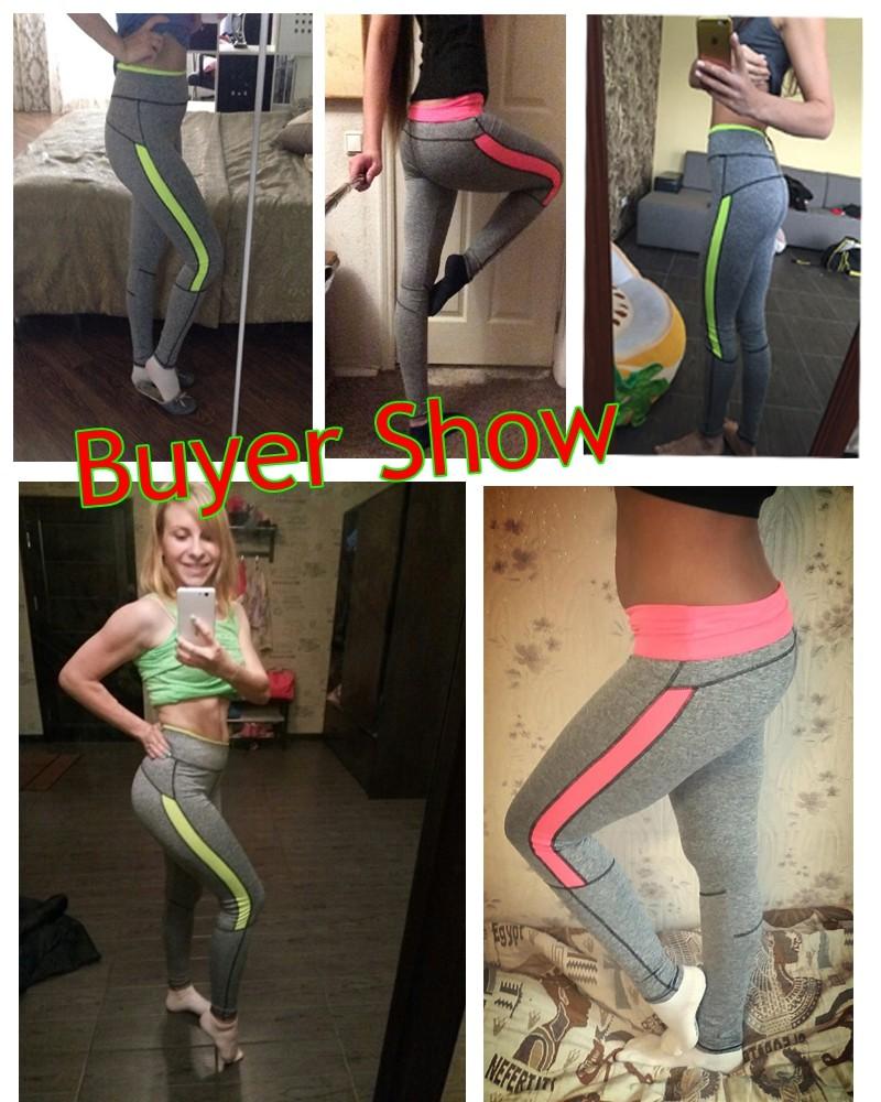 17 Women Lady Activewear Pink Legging Spring Summer light grey Pant Autumn High Waist Leggins 18 American Original Order 4