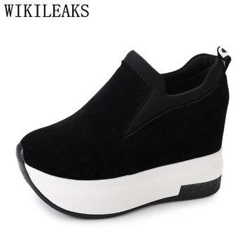 2019 height increasing womens shoes wedge platform sneakers tenis feminino shoes woman zapatillas mujer casual black red sapatos Обувь