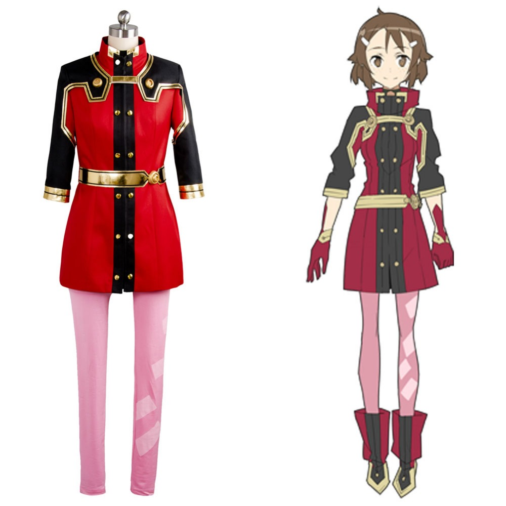 SAO Sword Art Online the Movie Ordinal Scale OS Lisbeth Shinozaki Cosplay Costume Halloween Carnival Women Men Full Set