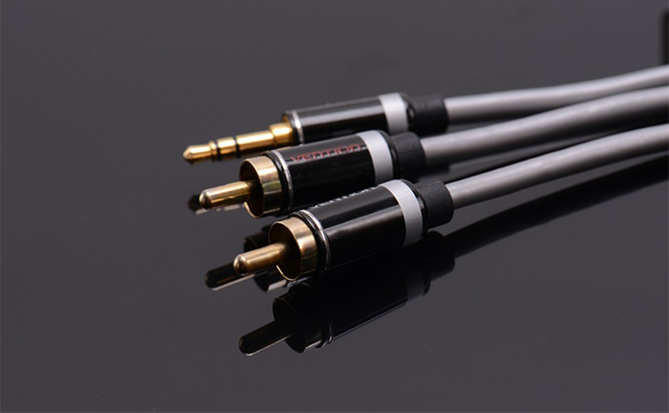 Vention RCA Audio Cable 3.5mm Jack to 2 RCA AUX Cable 2RCA Cable For Home Theater iPhone Headphone DVD 1m 2m 3m 5m 10