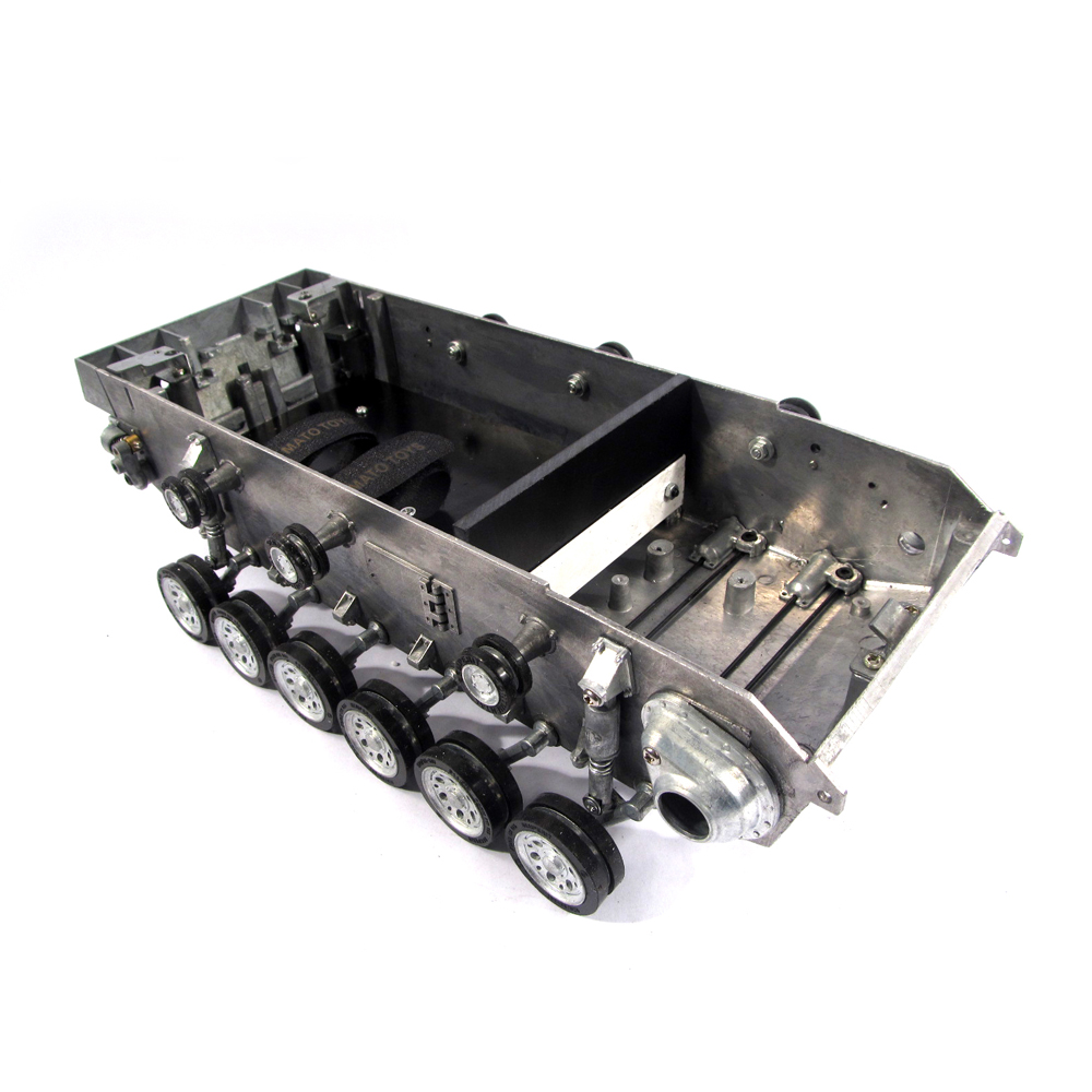 Mato Metal robot tank chassis kit with torsion bar suspension & road wheels for 1:16 rc Panzer III Stug III tank 2 wheel drive robot chassis kit 1 deck