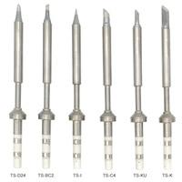 QUICKO 2 pcs TS100 Elektrische Soldeerbout Tips TS100-BC2 C4 D24 I K KU B2 Loodvrij Lassen Iron Tips voor MINI Soldeerstation