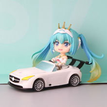 Nendoroid racing miku 2016 version Hatsune Miku gt project pvc action figure collection kawaii model toys girls gift juguetes