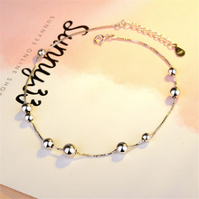 925 Sterling Silver-Simple Beads Anklet Foot Chain