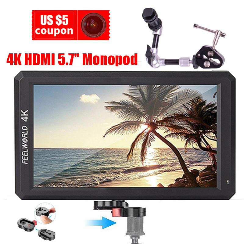 pre sale Feelworld F6 Support 4K HDMI 5.7'' IPS Input Full HD On-Camera Monitor for Camera/Video Can Power for DSLR or Camera