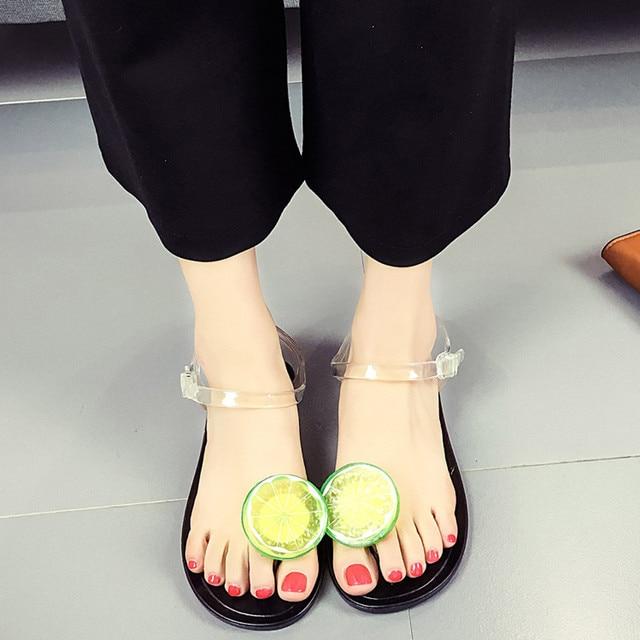 2ca0ad3d265 Casual Sandals Women Fruit Flip flops Sandals Shoes Girls Plate Flip Flop  Beach Sandals Chaussures Femme