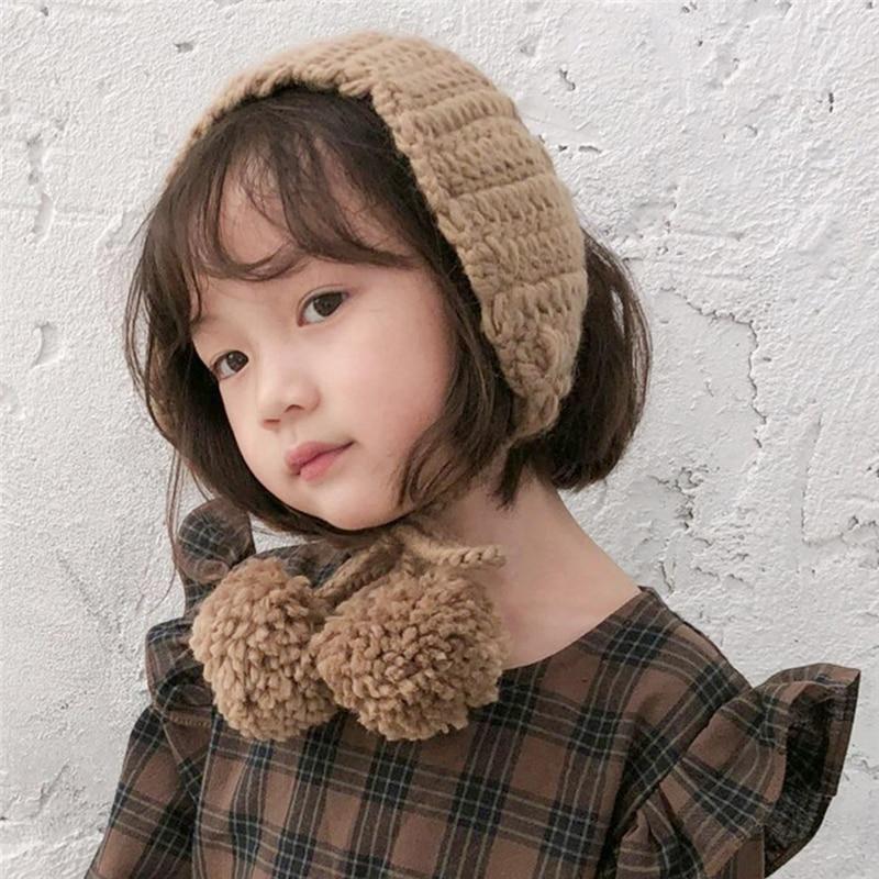 High Quality Women Fashion  Winter New Knitted Earmuffs Warm Earmuffs Korean Version Of The Cute Ear Warm Kids