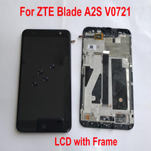 """Meilleure qualité travail capteur LCD affichage écran tactile numériseur assemblée avec cadre pour ZTE Blade A2S V0721 5.2 """"pièces de panneau Mobile"""