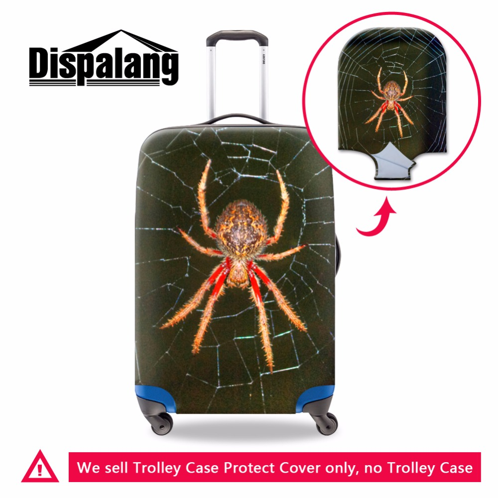 Dispalang Spider Print Lugagage Cover Luggage Protector Cool Suitcase Cover Spandex Luggage Bag Cover for Men Travel Accessories
