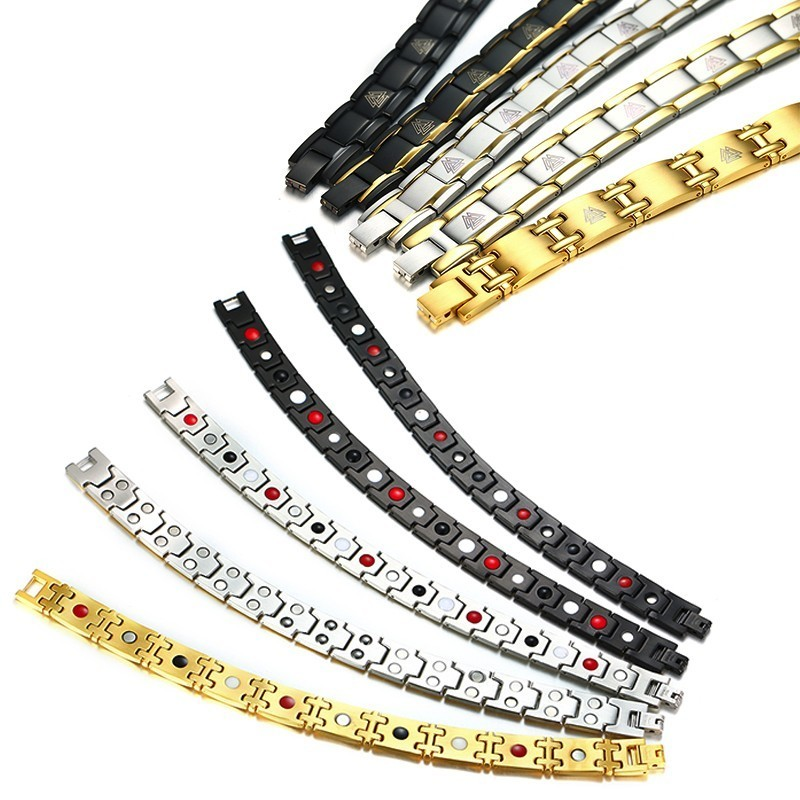 Bracelet magnétique Viking noir 4