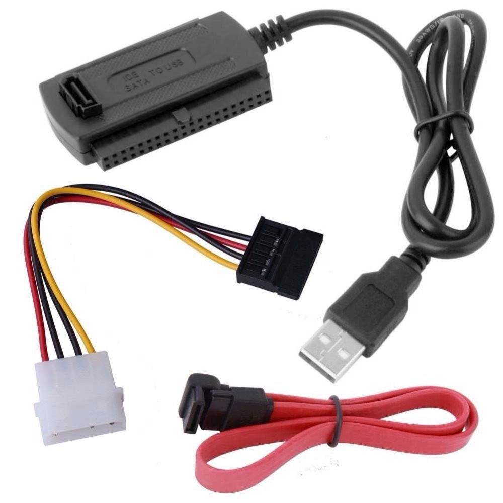 SATA/PATA/IDE Drive to USB 2.0 Adapter Converter Cable For 2.5 / 3.5 Inch Hard Drive Стикер