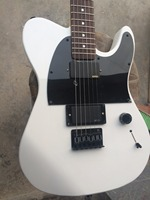 Free shipping Wholesale 2018 new fen custom electric guitar/ white coloe with black pickgard/guitar in china