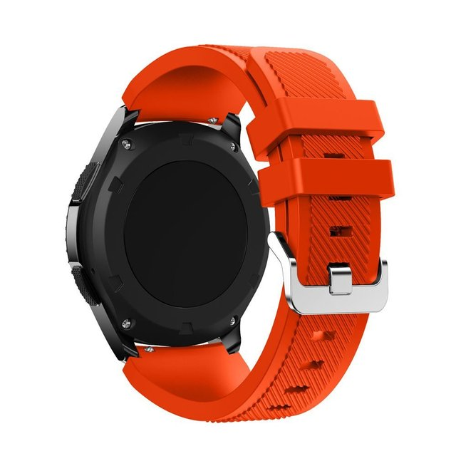 CRESTED 22mm Sports Silicone Watch band For Samsung Gear S3 Galaxy 46mm rubber strap for Xiaomi Huami Amazfit Pace/Stratos 2/1