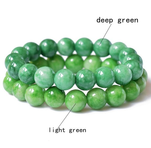 Green Beads Bracelet Natural Jade Bracelets for women Fashion Jewelry For Men Women Drop Shipping 050