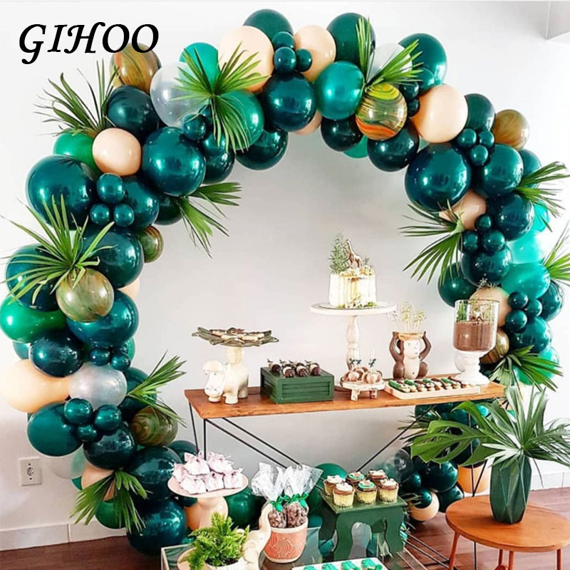 Image 3 - 5PCS Gold Green High Quality Fake Leaf Artificial Tropical Palm Leaves DIY Plant Home Party Wedding Table Desk Decoration Supply-in Artificial Plants from Home & Garden