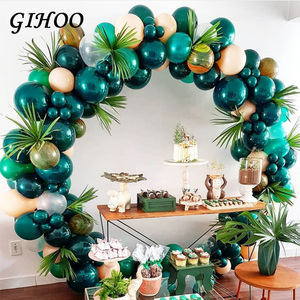 Image 3 - 5pcs Gold Green High Quality Fake Leaf Artificial Tropical Palm Leaves DIY Plant Home Party Wedding Table Desk Party Decoration