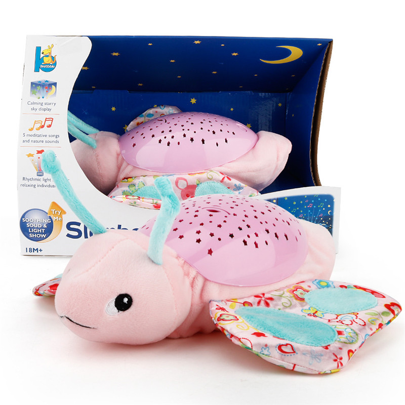 Light Music Projection Animal Shapes Music Sound Baby Sleeping Toys Calm Doll x# fastshipping