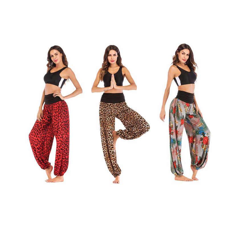 Pantalones deportivos de cintura alta holgados de estilo europeo y americano para mujer