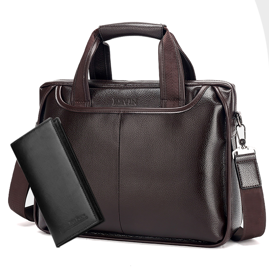 2018 New Fashion Leather Male Commercial Briefcase /PU Leather Vintage Men's Messenger Bag/Laptop Bag Business Bag