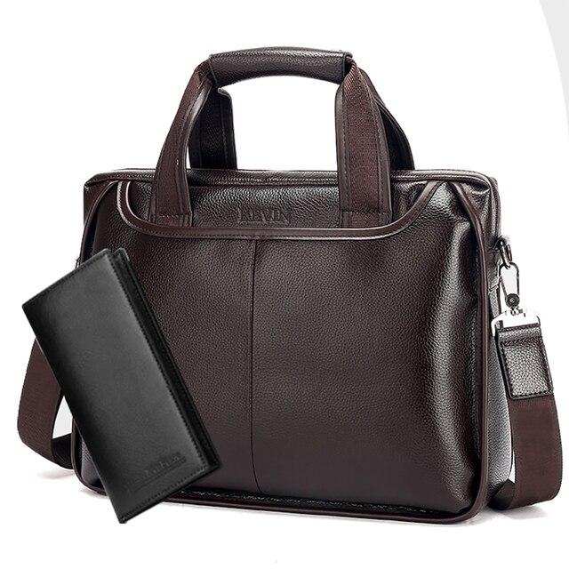 2018 Nova Moda Couro masculino maleta comercial/PU de couro saco do mensageiro dos homens do vintage/Bolsa Para Laptop bolsa de Negócios