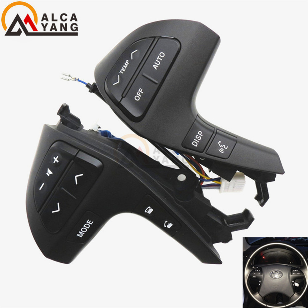 Buttons Bluetooth Phone For Toyota HIGHLANDER 84250-0E120 Wheel Audio Control Button 84250-0E220 84250-0K020