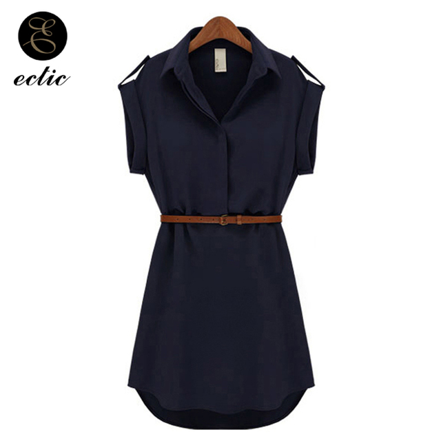Korean Office Wear Sukienka Slimming Solid Color Elegant Temperament  Quality Tumblr Dress Belt Sash Women Robe ddba6fff1478