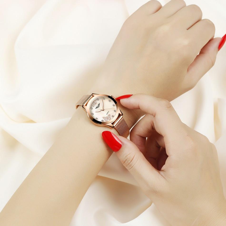 GUANQIN Women Watches Fashion Casual Quartz Watch Gold Women Bracelet Watch Stainless Steel Strap relogio feminino famous brand  (5)