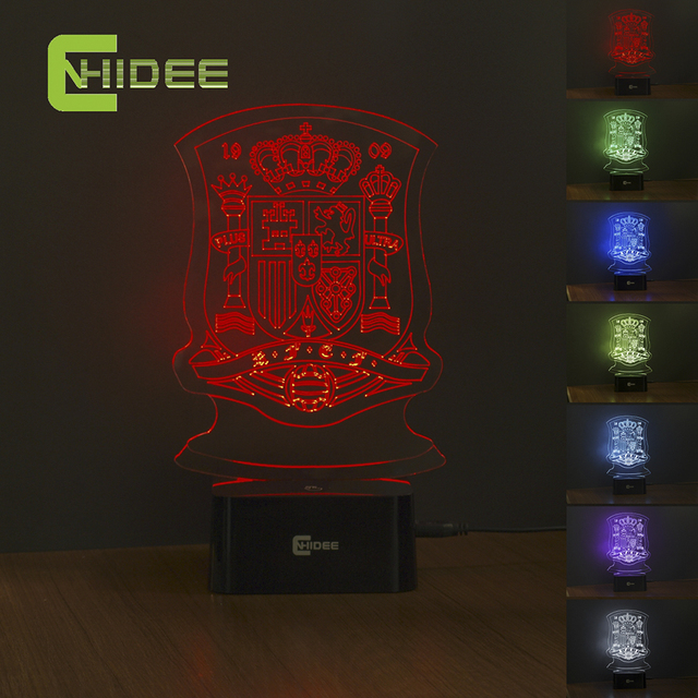 Cnhidee 7 Colors Changing 3d Led Lamp Usb Night Light As Home Decor Bedroom Besides Lampara