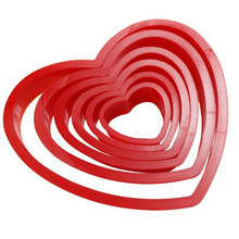 VOGVIGO 6pcs/set Heart Shaped plastic Cake mold cookie cutter biscuit stamp fondant Sugar Craft pastry cake decorating tools