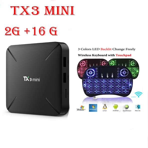 TX3 Mini Smart Android 7.1 TV Box S905W 2GB RAM DDR3 + 16GB ROM eMMC 4K Support WiFi 2.4GHz Miracast Airplay DLNA Media Player медиаплеер defender smart transmitter x2 miracast dlna airplay 55302