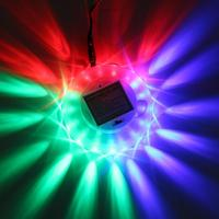 Sound Activated Light Mini Colorful LED Laser Stage Crystal Round Disk Rotating Party Lamp Projector Light