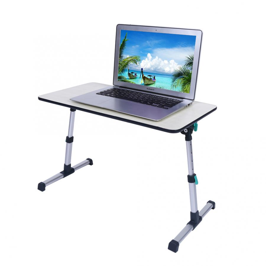 Adjustable Laptop Desk for Home Laptop Stand Portable Standing Desk Laptop Computer Table Foldable Sofa Breakfast Bed Tray Table-in Laptop Desks from Furniture