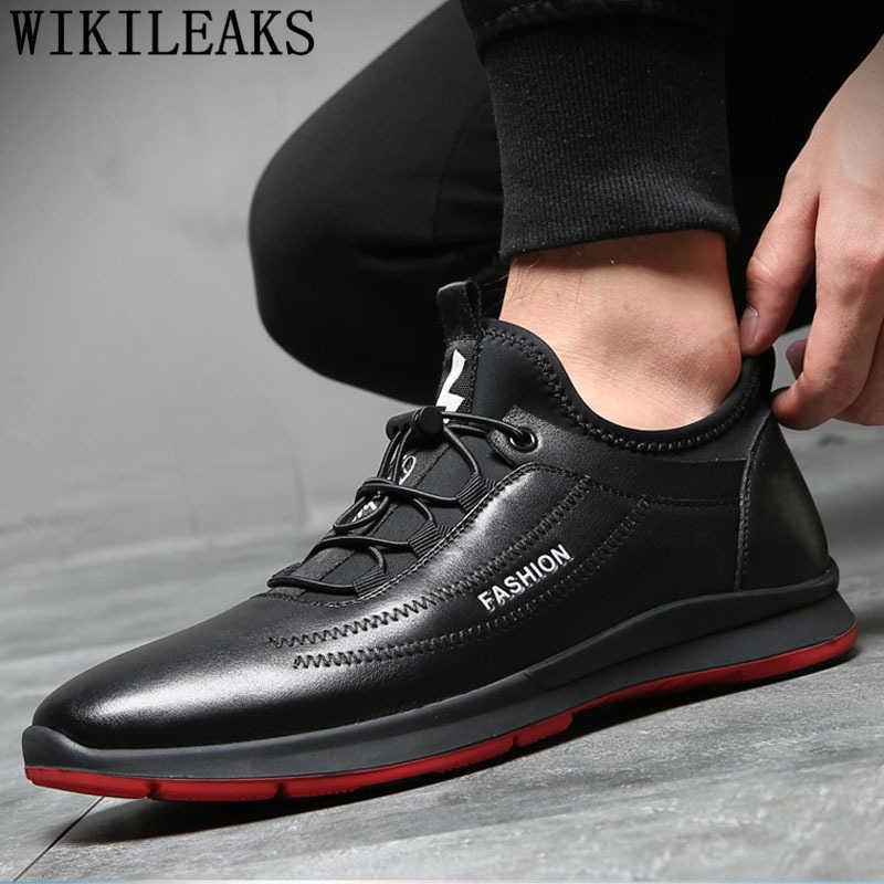 Giày thiết kế nam Giày Da Thật Giày Đen Giày mùa đông cho Nam Giày 2019 bít sabo da nam thương hiệu sang trọng ngắn