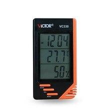 Термометром и гигрометром декоративные часы для настенный цифровой ЖК-дисплей VC330 Дата Календарь Будильник BS88