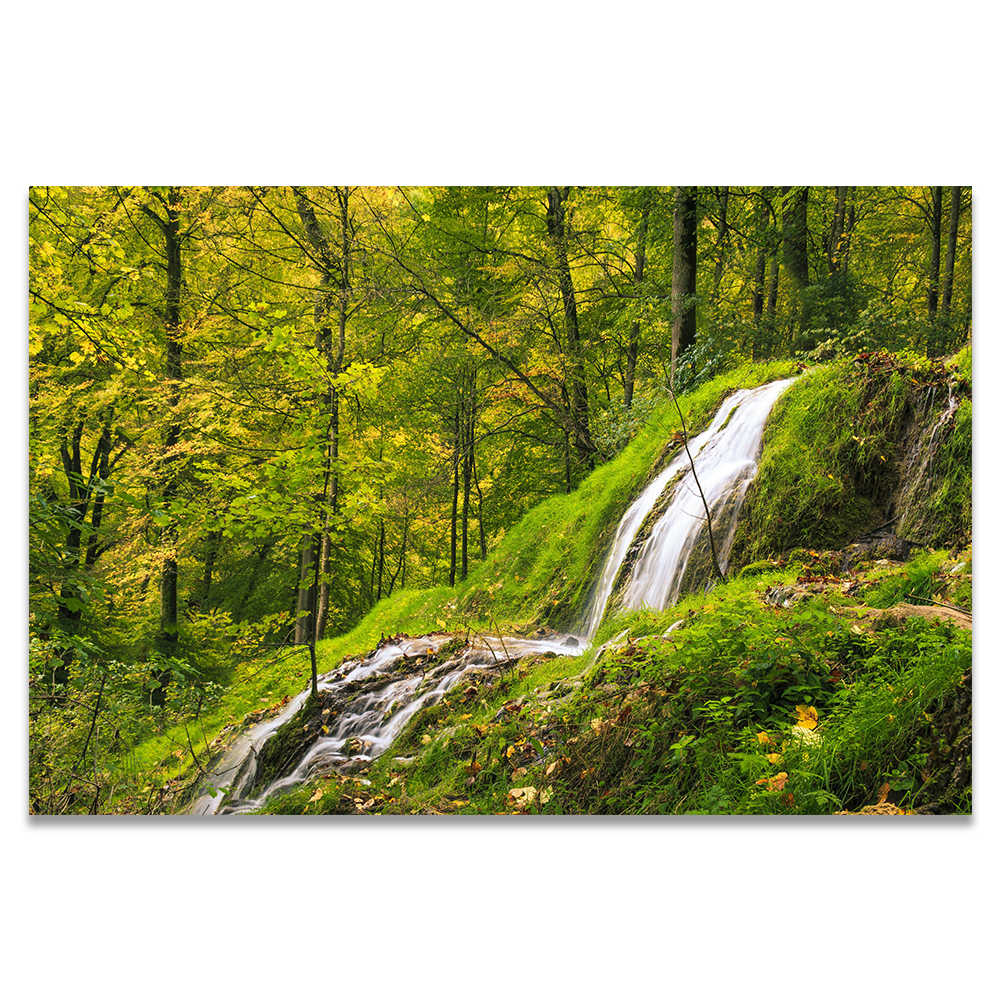 Beauty Poster Nature Landscape Waterfall Mountain Lake Forest Jungle Canvas Painting Wall Pictures For Living Room Home Decor