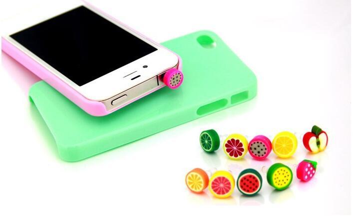1 Pc Simulierte Schöne Frucht Telefon Anti Staub Stecker Handy Zubehör Für Smartphone Alle Normalen 3,5mm Kopfhörer Jack Stecker Duftendes Aroma In
